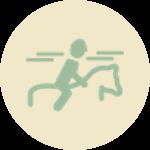 Symbol Reiter auf Pferd